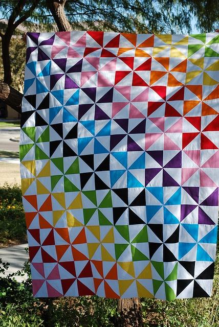 Pinwheel quilt by Blueberrymoon
