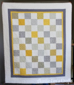 Yellow and Gray Lap Quilt