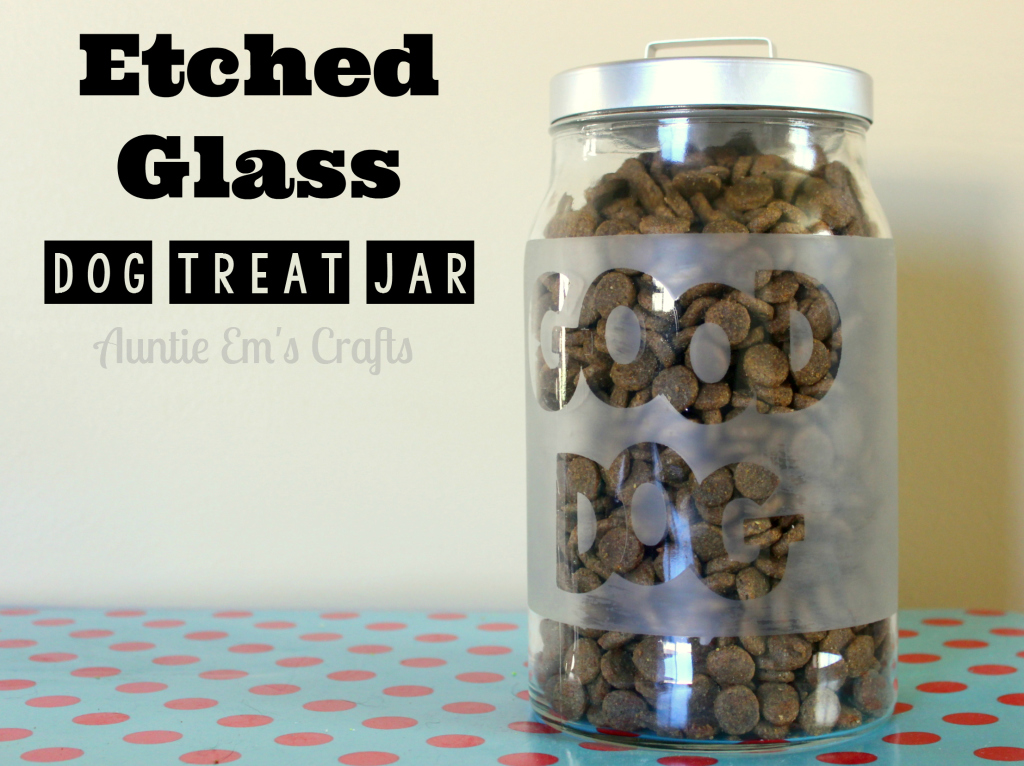 Etched Glass Treat Jar