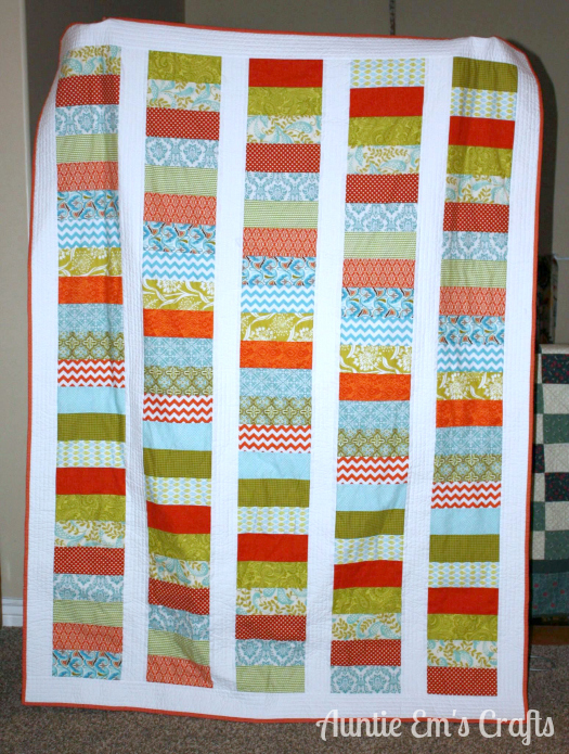 Carli's quilt from Weekend Coin Quilt Tutorial by AuntieEmsCrafts.com
