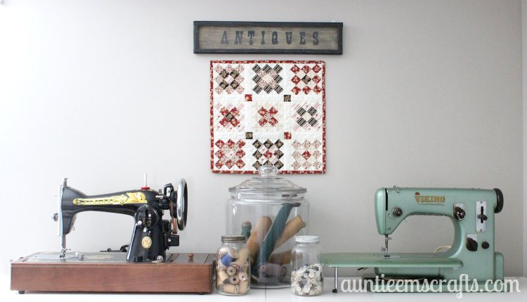 Little House on the Prairie® Granny Square Mini Quilt Tutorial | AuntieEmsCrafts.com