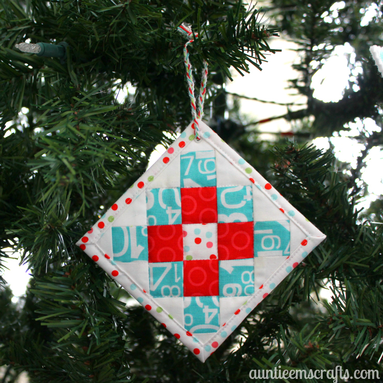 Mini Granny Square Ornament and Coaster Tutorial| AuntieEmsCrafts.com