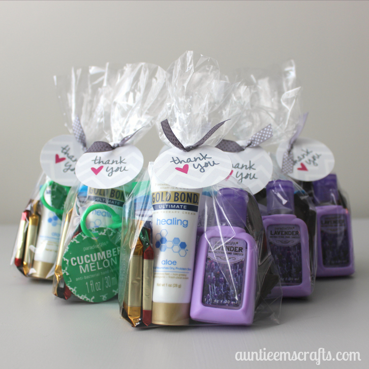Christmas Gift Ideas For Hospital Staff : Last minute nurse thank you bags auntie em s crafts
