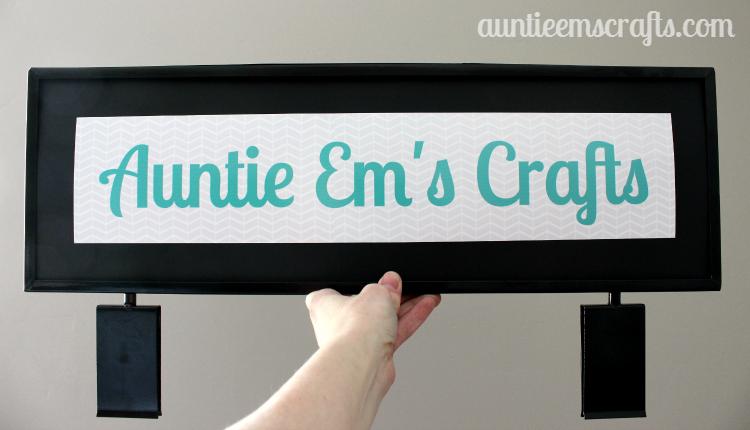 "DIY 22x7"" Craft Show Gridwall Sign | AuntieEmsCrafts.com"