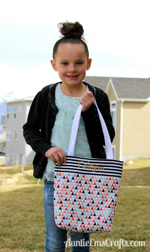 Adding Embroidery to Your Kid-Sized Tote Bag | AuntieEmsCrafts.com